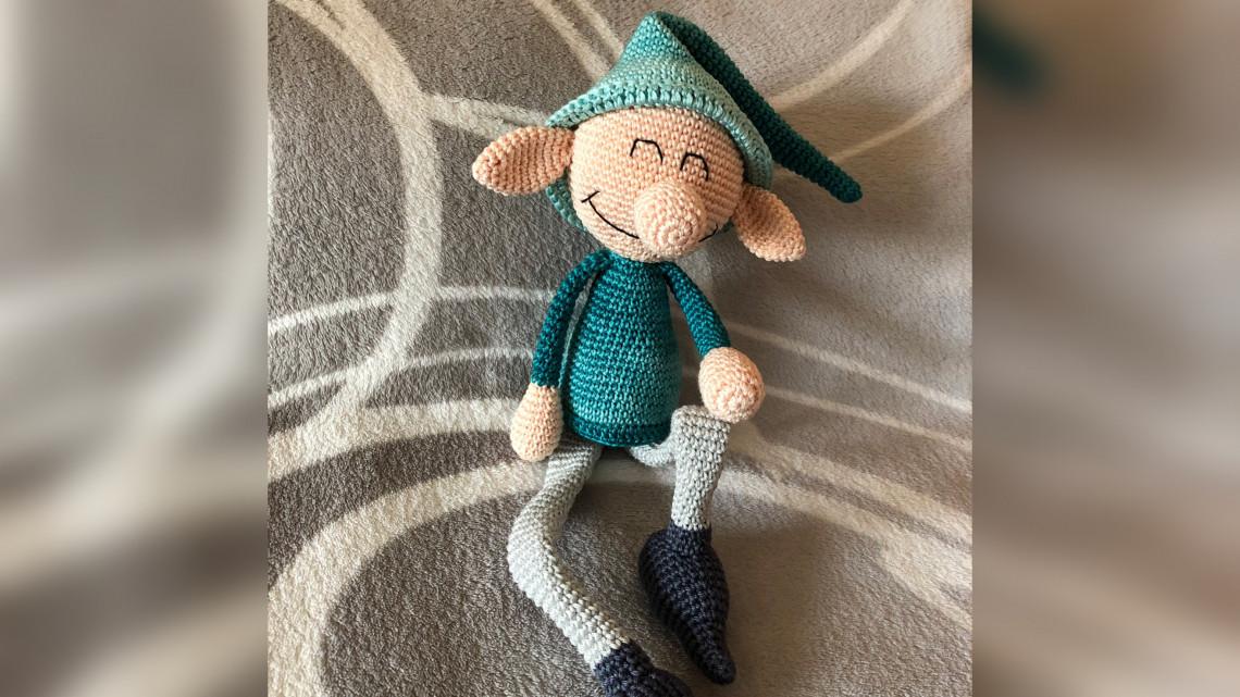 winterlicher Grinse-Elf