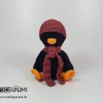 Pinguin gehäkelt