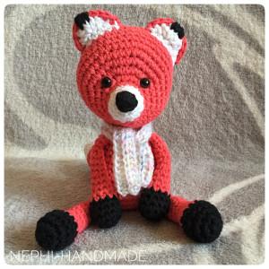 Fuchs gehäkelt, crochetfox, amigurumifox, Rotfuchs