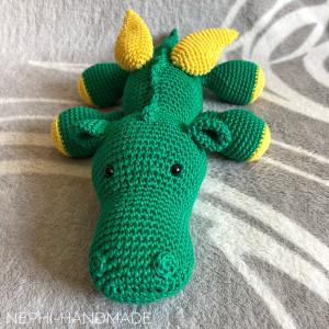 Drachen gehäkelt, crochet dragon, Drachenstark