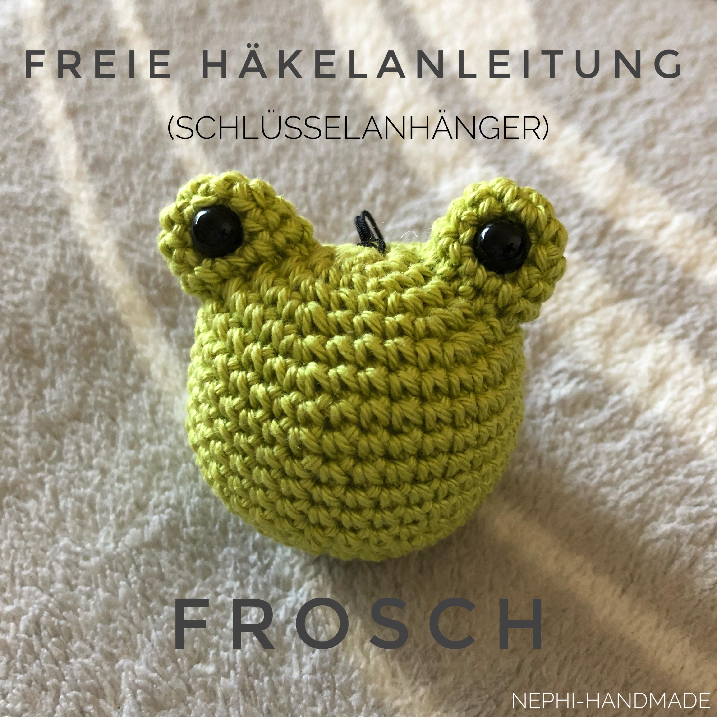 Schlüsselanhänger Frosch Nephi Handmade