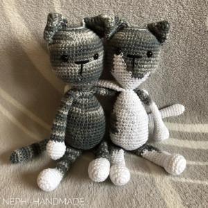 Katzen Freundschaft, gehäkelt